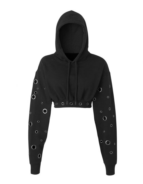 e=ny Signature Crop Hoodie