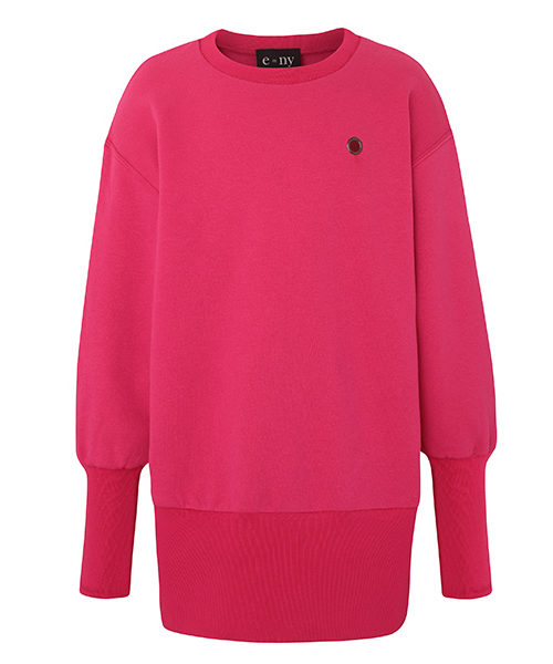 e=ny-Signature-Crew-Neck-Pullover-Sweatshirt-Dress-pink
