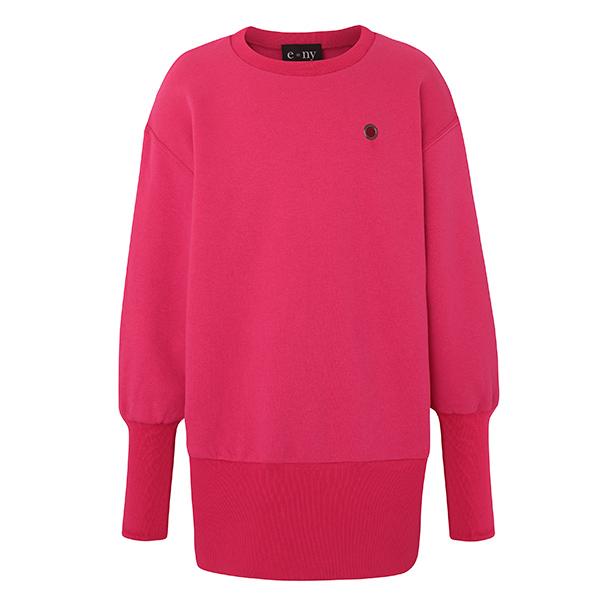 e=ny-Signature-Crew-Neck-Pullover-Sweatshirt-Dress-pink