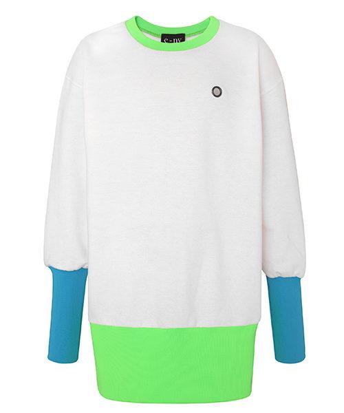 e=ny-Signature-Crew-Neck-Pullover-Sweatshirt-Dress-mix-colors
